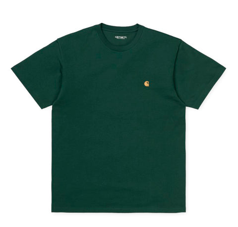 T-Shirts Carhartt WIP Chase T-Shirt: Dark Teal / Gold - The Union Project, Cheltenham, free delivery