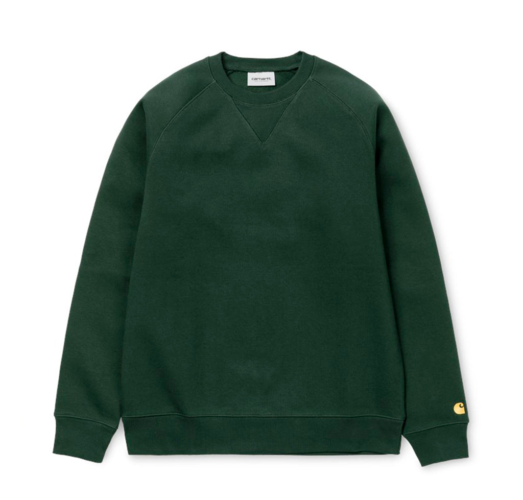 Carhartt WIP Chase Sweat: Dark Teal / Gold - The Union Project