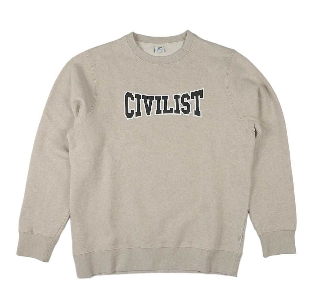 Civilist Club Crewneck: Heather Beige - The Union Project