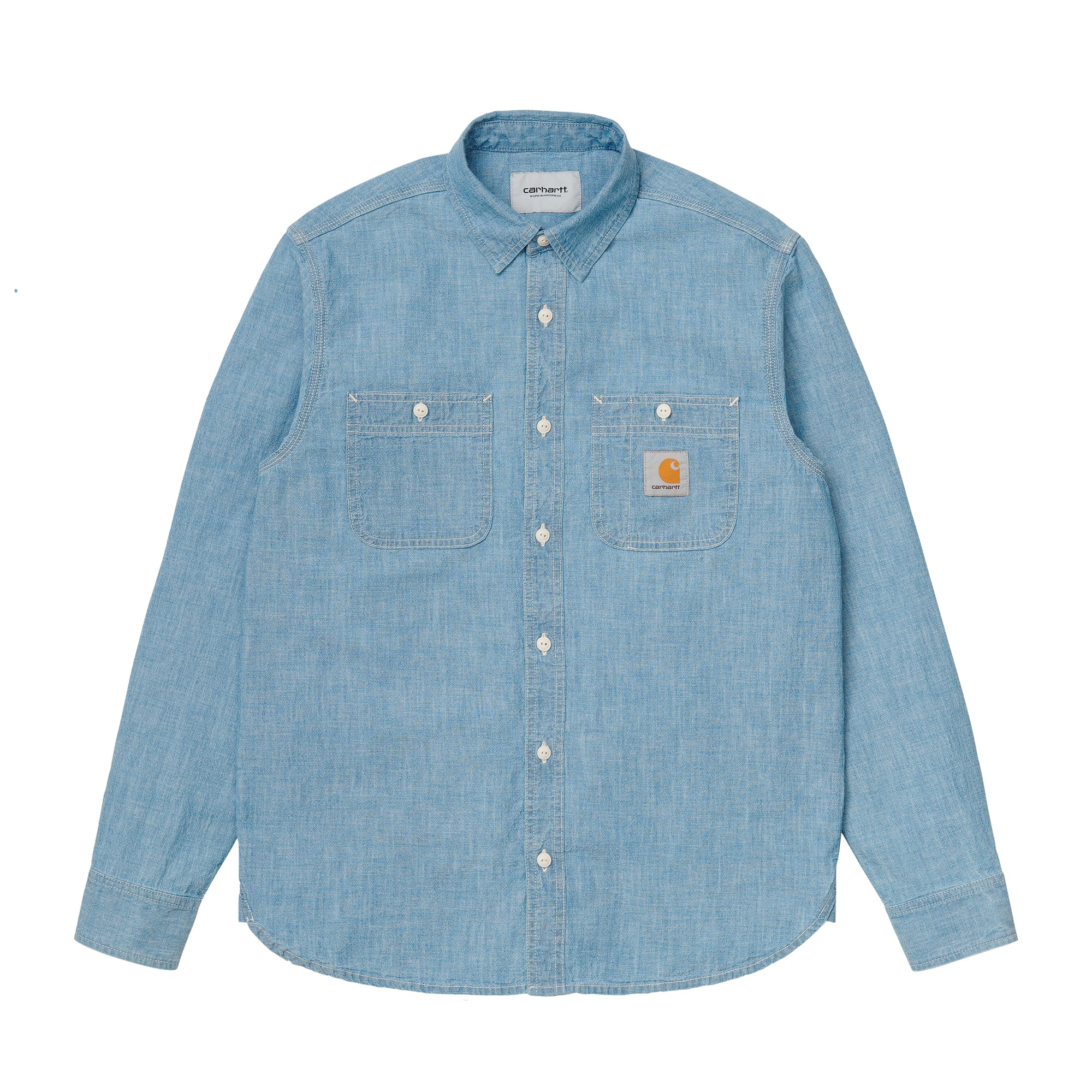 Carhartt WIP Clink Shirt: Blue Bleached - The Union Project