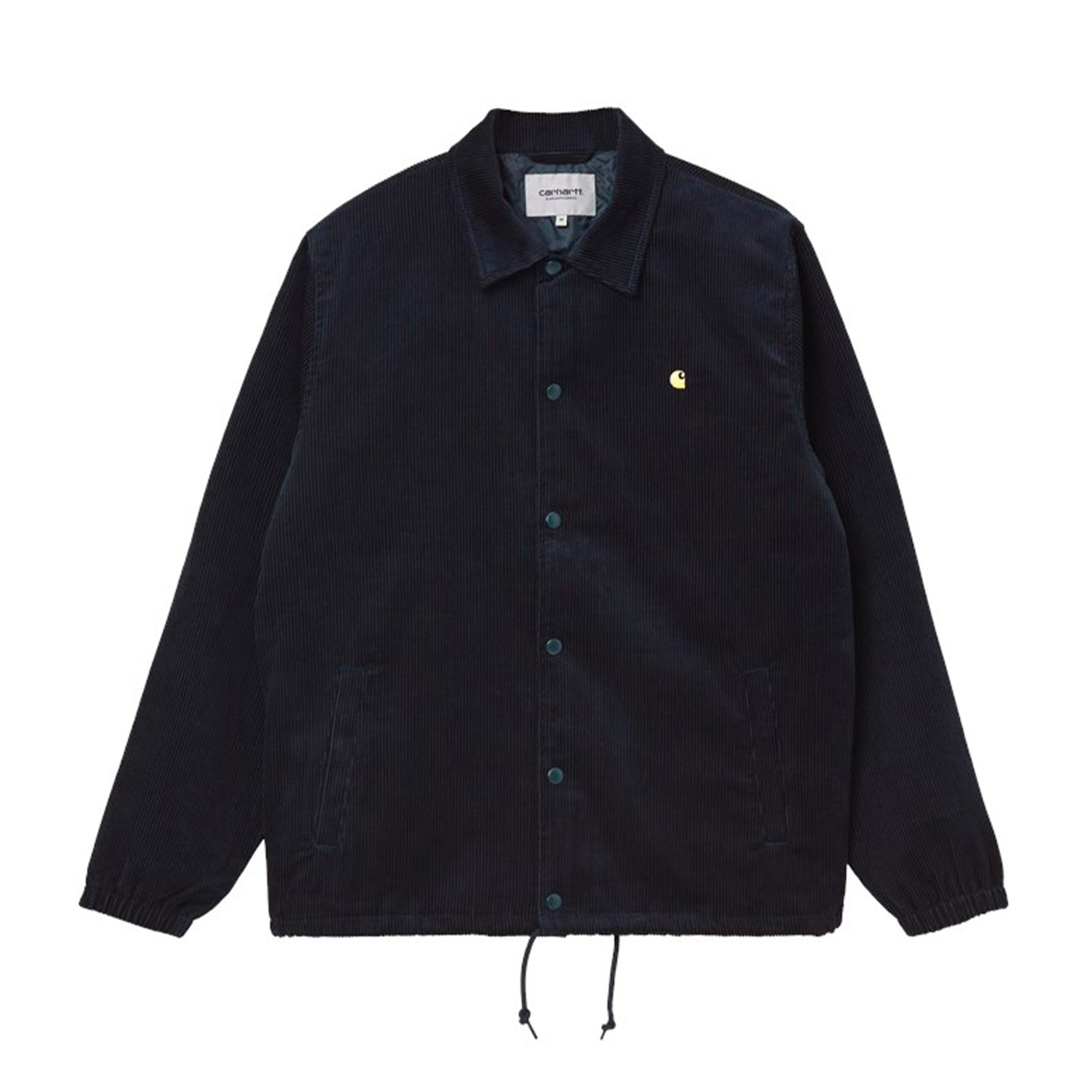 Carhartt WIP Corduroy Coach Jacket: Dark Navy / Limoncello - The Union Project