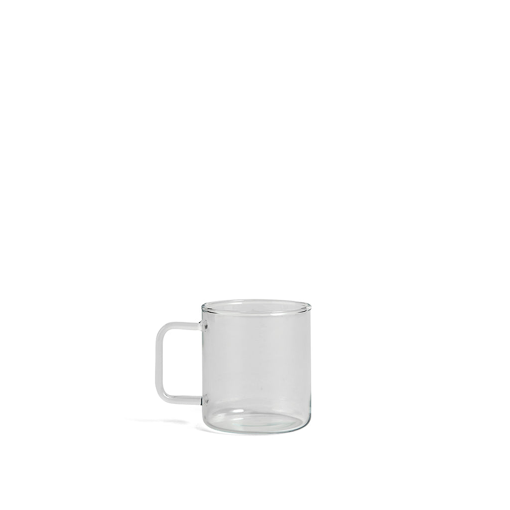 HAY Glass Coffee Mug 400ML: Clear - The Union Project
