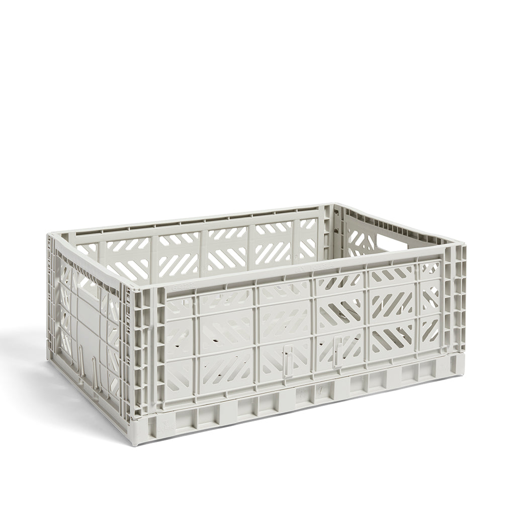 HAY Colour Crate L: Light Grey - The Union Project
