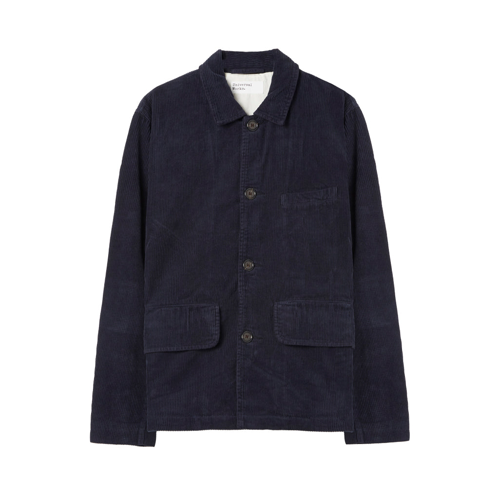 Universal Works Cord Warmus Jacket: Navy - The Union Project