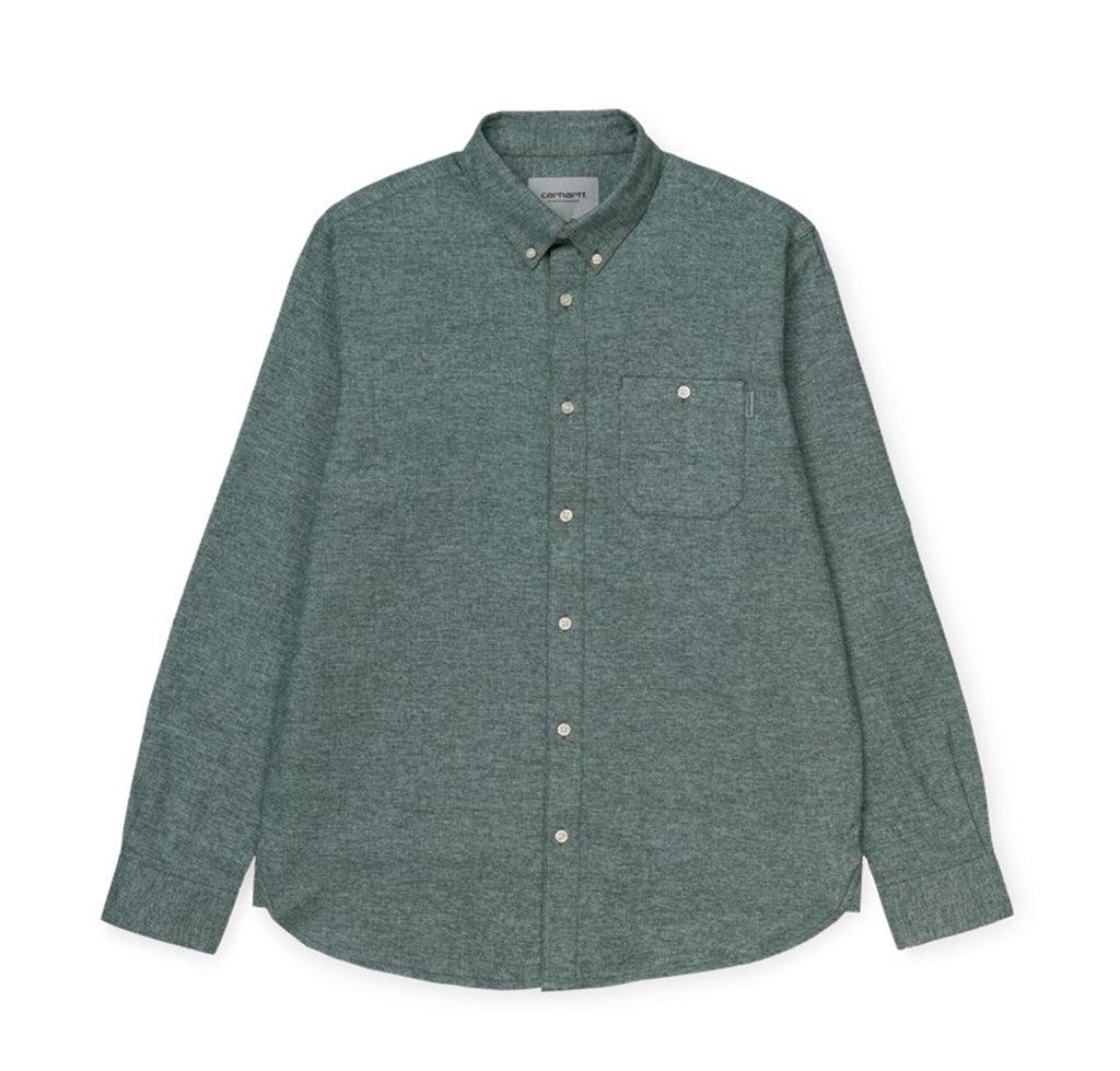 Carhartt WIP Corey Shirt: Dark Teal - The Union Project