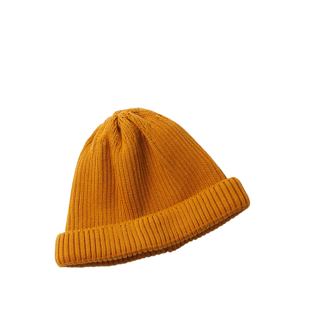 Beanies Rototo Cotton Roll Up Beanie: Yellow - The Union Project, Cheltenham, free delivery