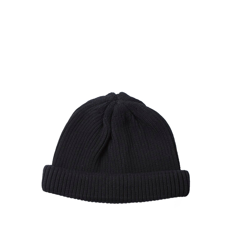 Beanies Rototo Cotton Roll Up Beanie: Black - The Union Project, Cheltenham, free delivery