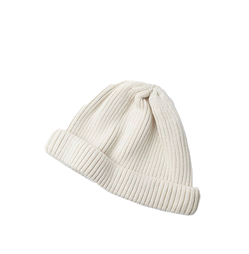 Beanies Rototo Cotton Roll Up Beanie: Ivory - The Union Project, Cheltenham, free delivery