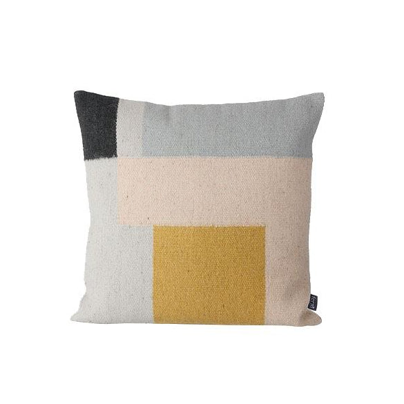 Ferm Living Kelim Cushion: Squares - The Union Project