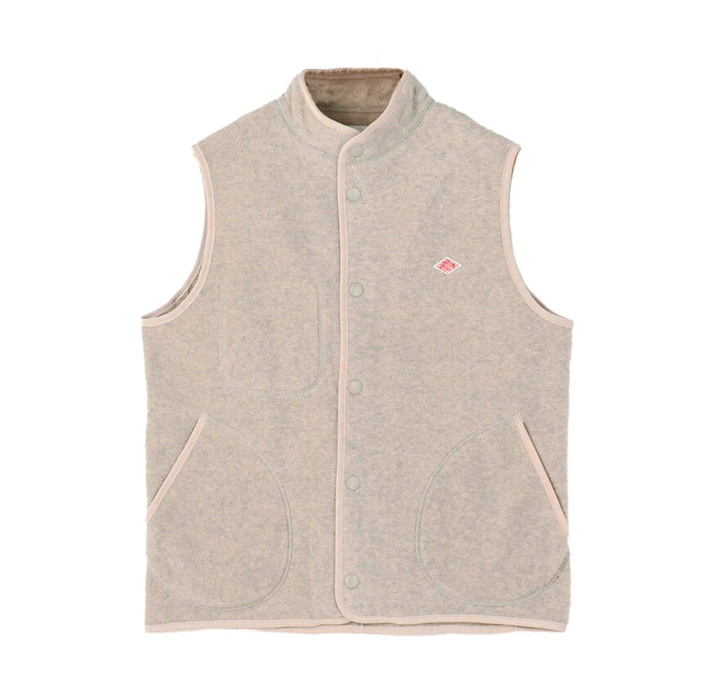 Danton Fleece Vest: Marble - The Union Project