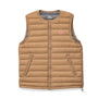 Danton Round Collar Insulated Vest: New Beige