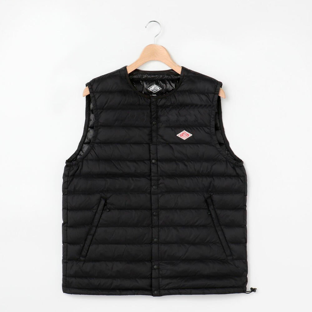 Danton Round Collar Insulated Vest: Black - The Union Project