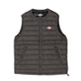 Danton Round Collar Insulated Vest: Iron