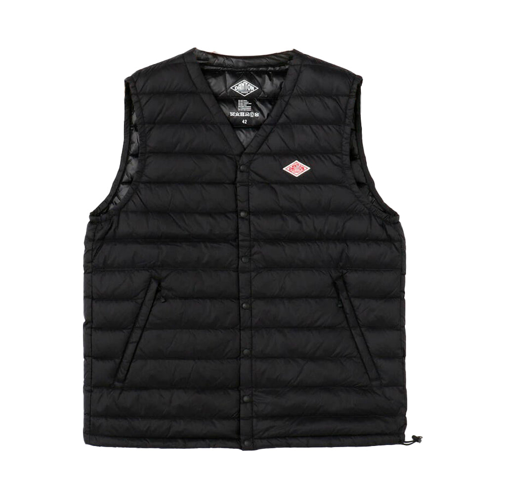 Danton V Collar Insulated Vest: Black - The Union Project