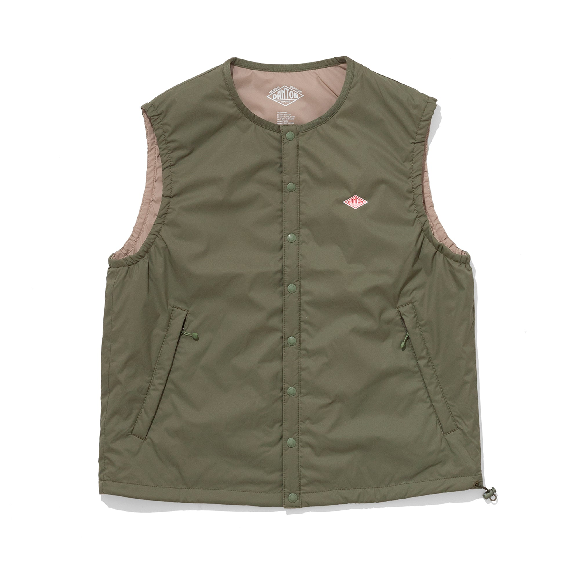 Danton Womens Insulated Vest: Olive Green - The Union Project
