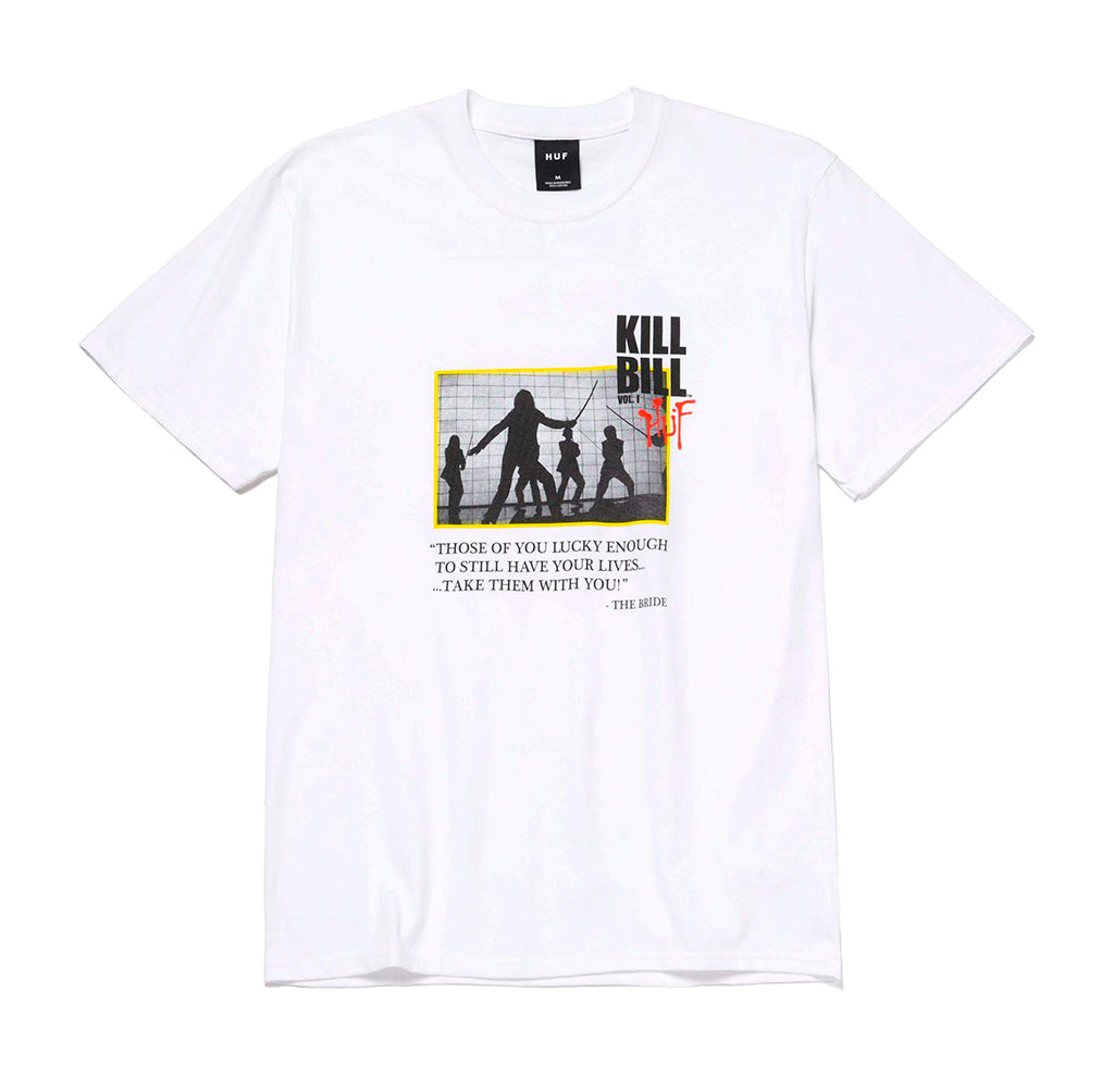HUF x Kill Bill Death List Short Sleeve Tee: White - The Union Project