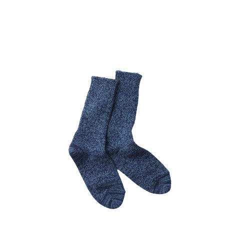 Rototo Denim Tone Crew Socks: Blue Denim - The Union Project