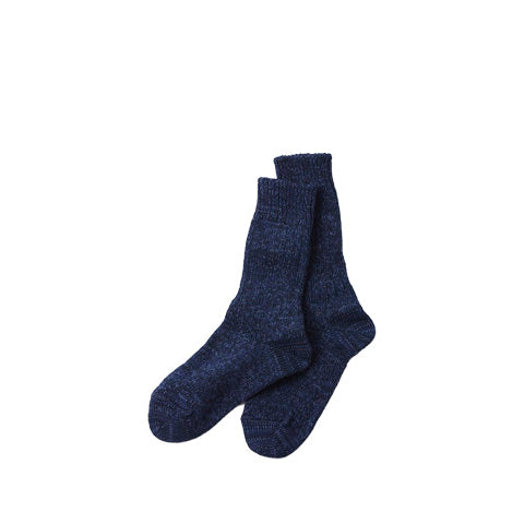Rototo Denim Tone Crew Socks: Dark Denim - The Union Project