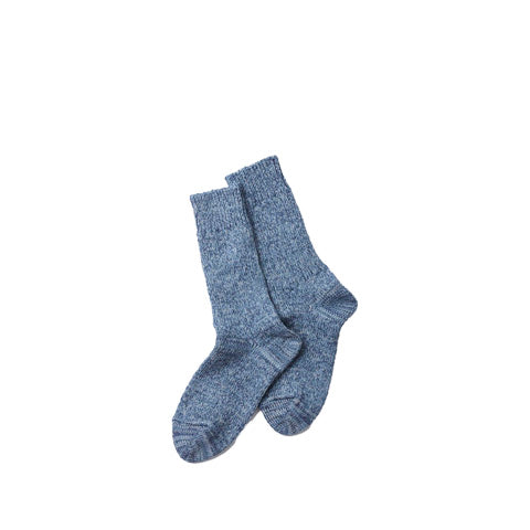 Rototo Denim Tone Crew Socks: Ice Denim - The Union Project