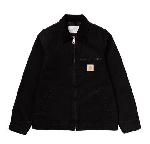 Carhartt WIP Detroit Jacket: Black (Rinsed)