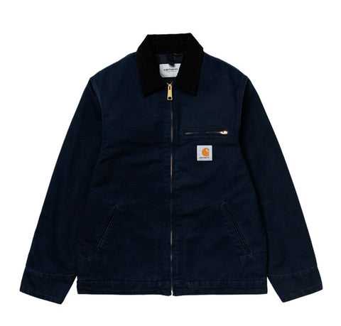 Carhartt WIP Detroit Jacket: Dark Navy (Rinsed)