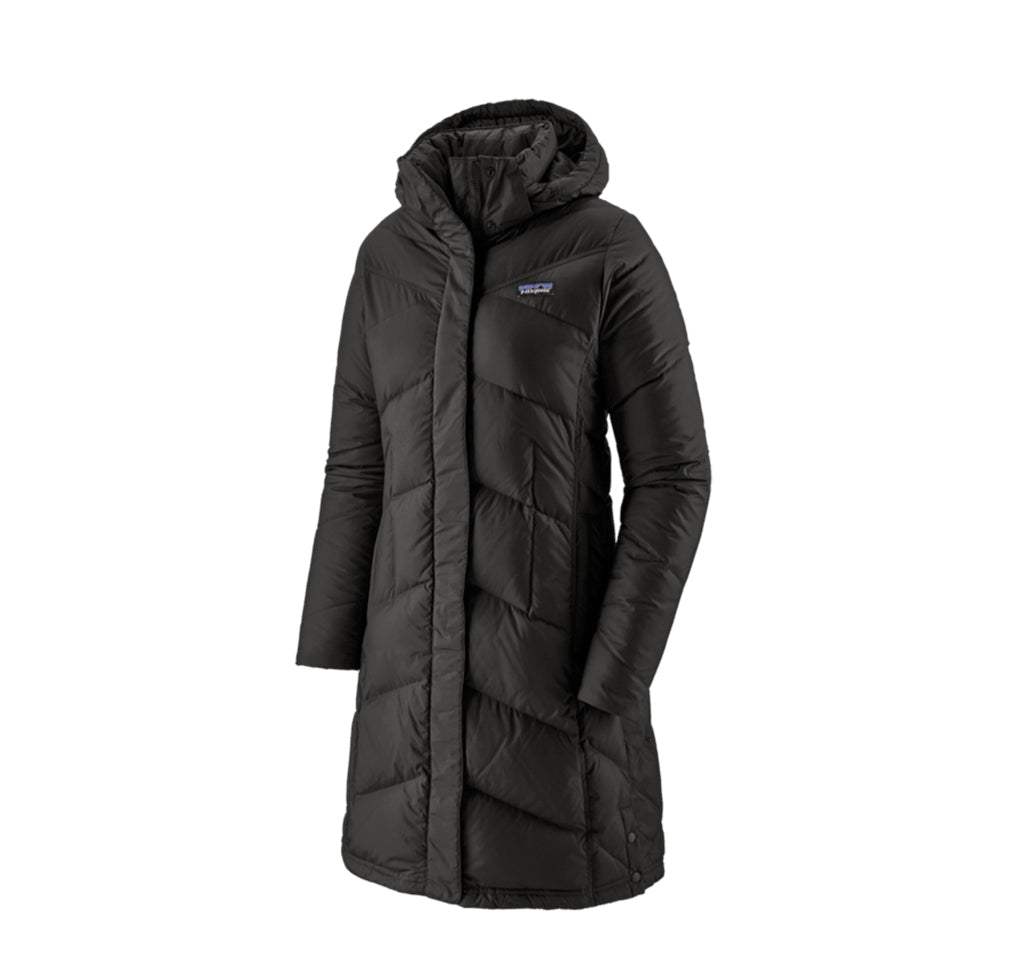 Patagonia Womens Down With it Parka: Black - The Union Project