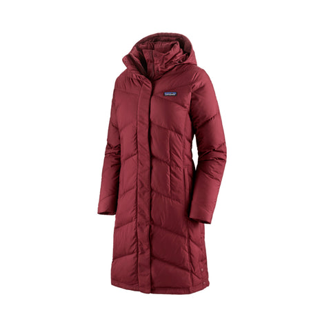Patagonia Womens Down With it Parka: Chicory Red