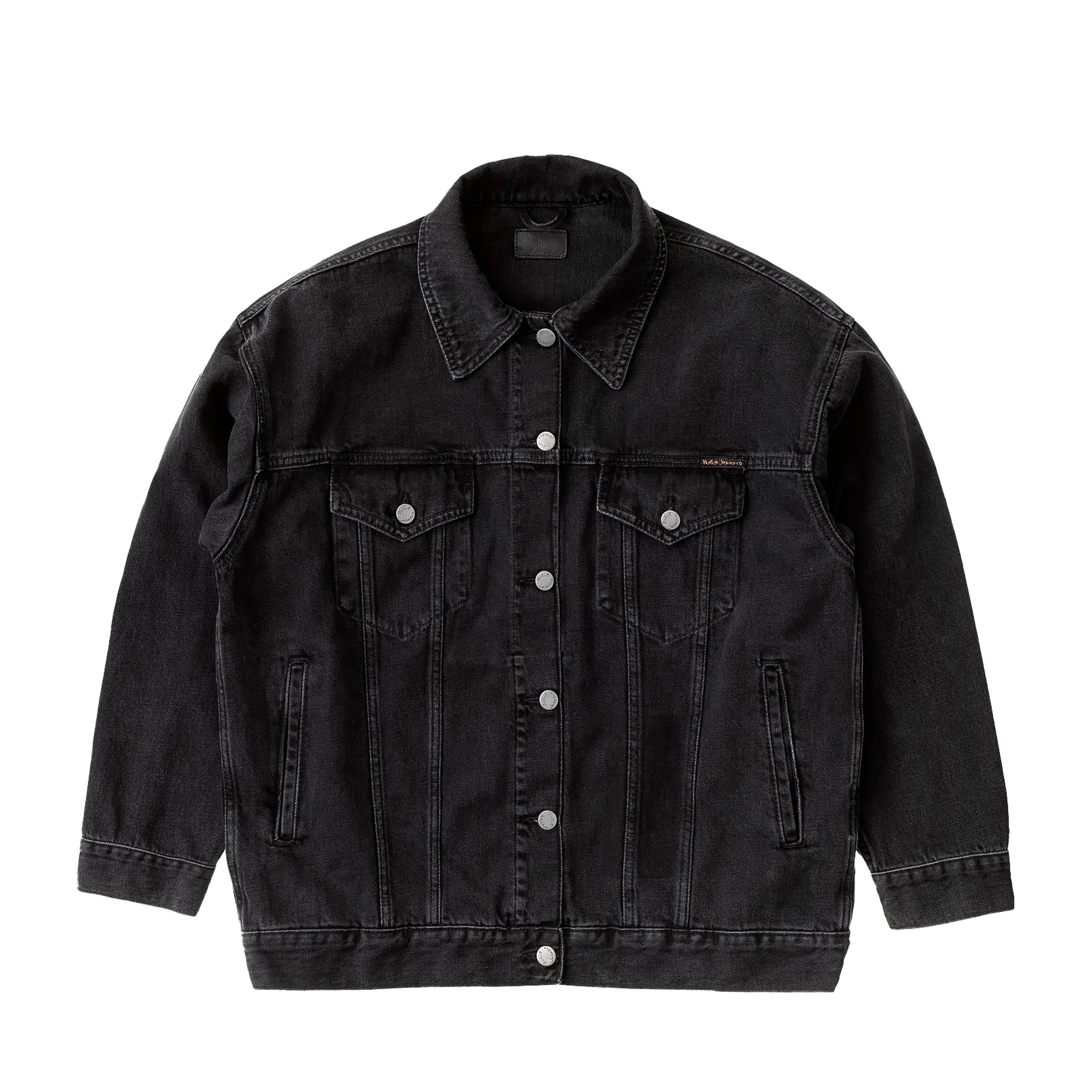 Nudie Jeans Womens Elin Jacket: Black Trace - The Union Project