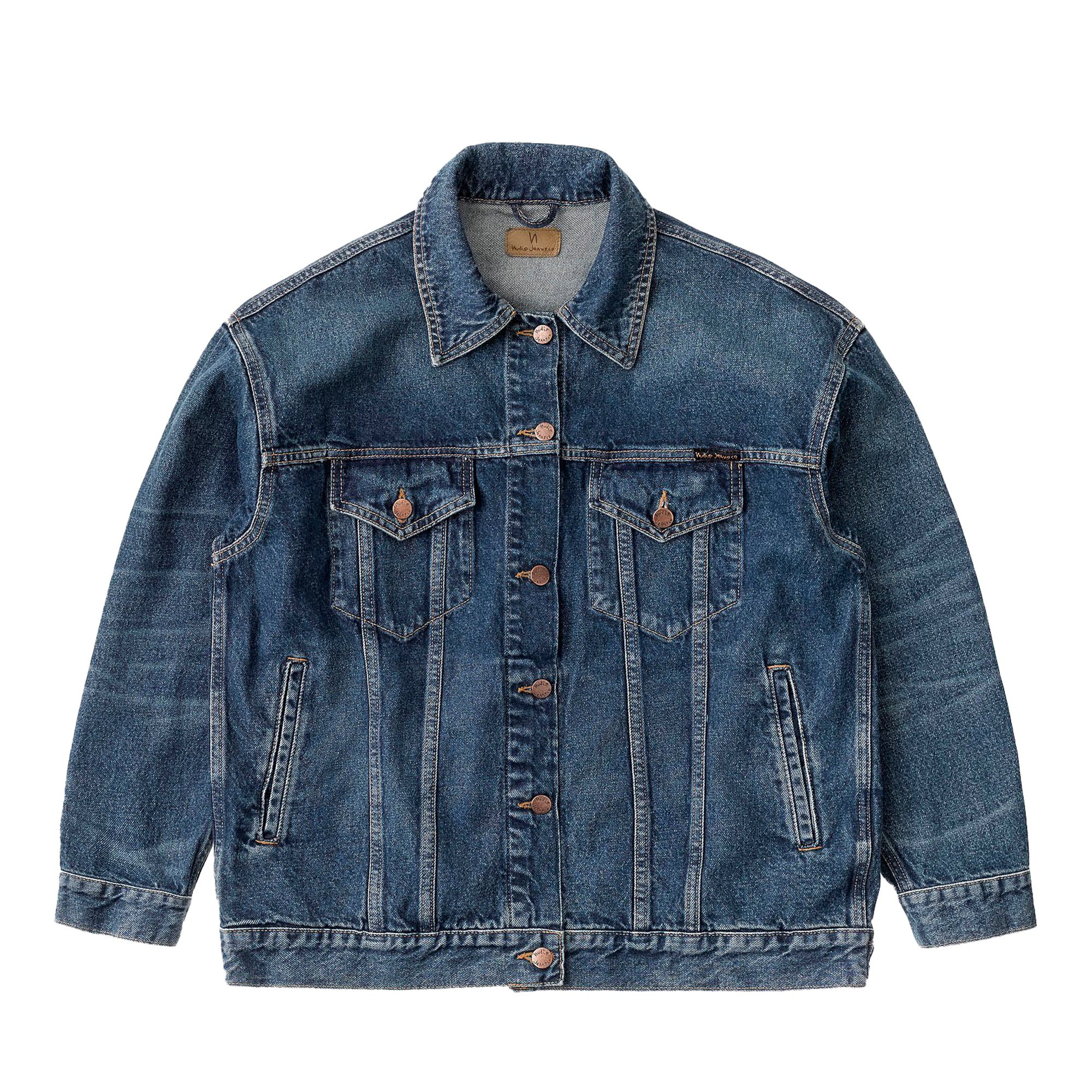 Nudie Jeans Womens Elin Jacket: Blue Maze - The Union Project