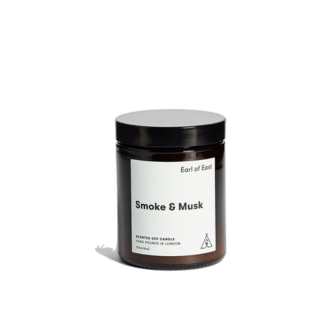 Home Fragrance + Candle Holders Earl of East London Soy Wax Candle 170ml: Smoke & Musk - The Union Project, Cheltenham, free delivery