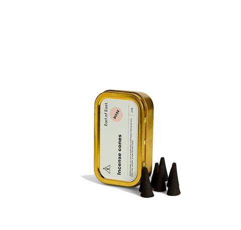 Home Fragrance + Candle Holders Earl of East London Incense Cone: Rose - The Union Project, Cheltenham, free delivery