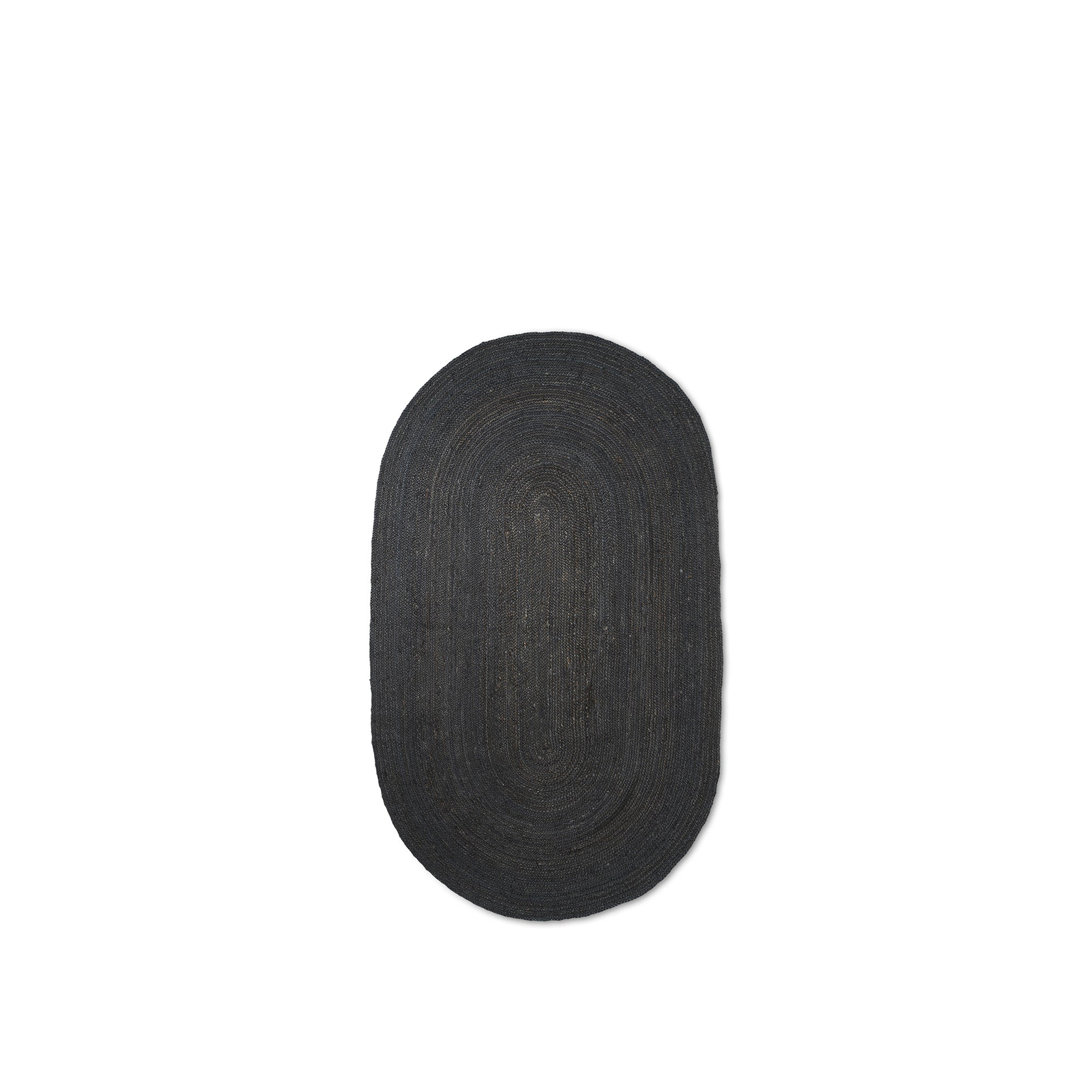 Ferm Living Eternal Oval Jute Rug Small: Black - The Union Project