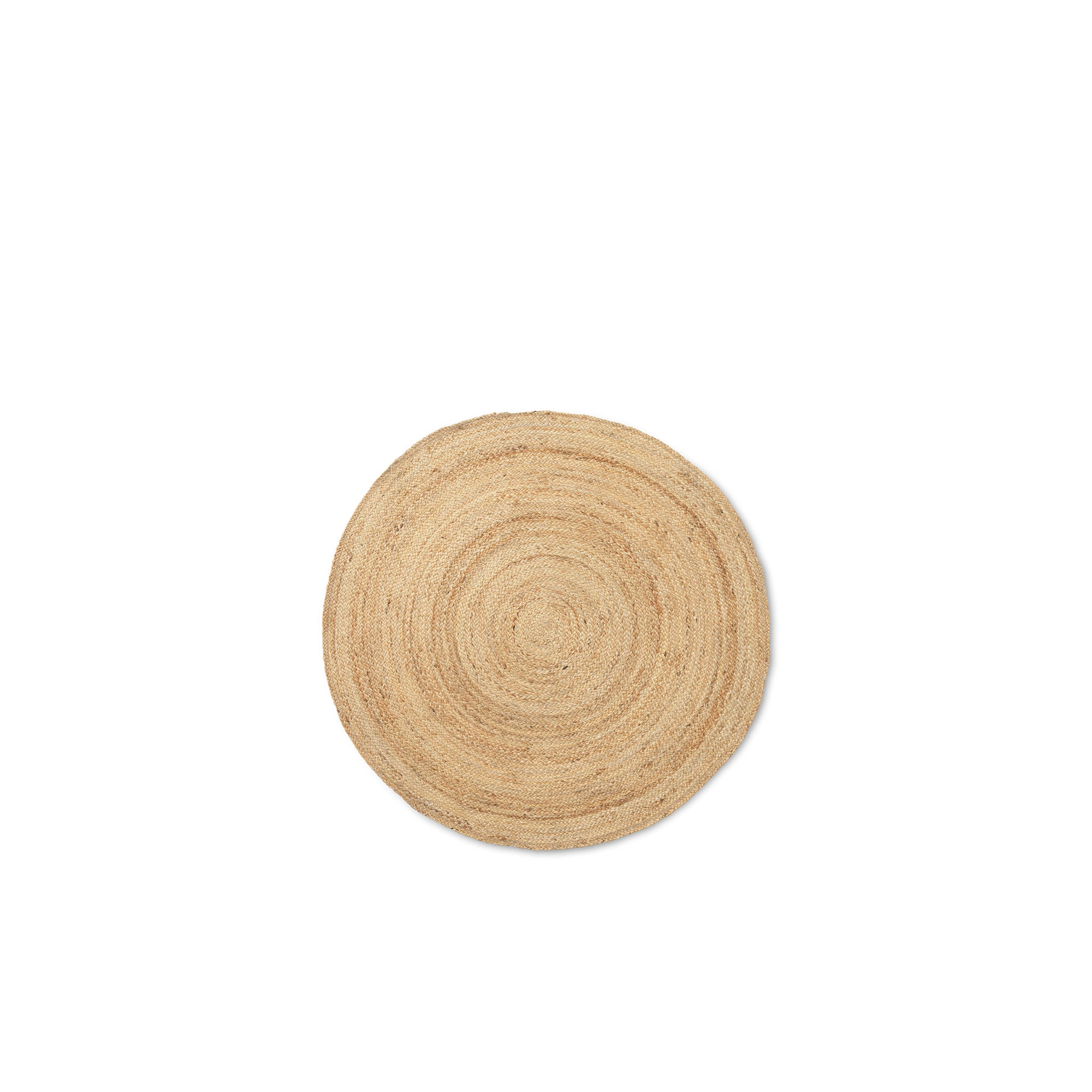 Ferm Living Eternal Round Jute Rug Small: Natural - The Union Project