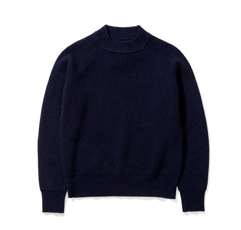 Norse Projects Women's Evelina Lambswool: Dark Navy