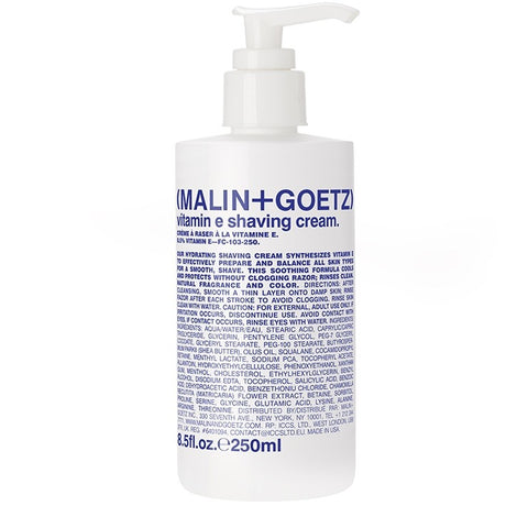 Skincare + Fragrance Malin + Goetz Vitamin E Shaving Cream: 250ml - The Union Project, Cheltenham, free delivery