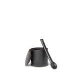 Glassware Ferm Living Flow Jar w/ Spoon: Black - The Union Project, Cheltenham, free delivery