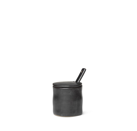 Ferm Living Flow Jar w/ Spoon: Black