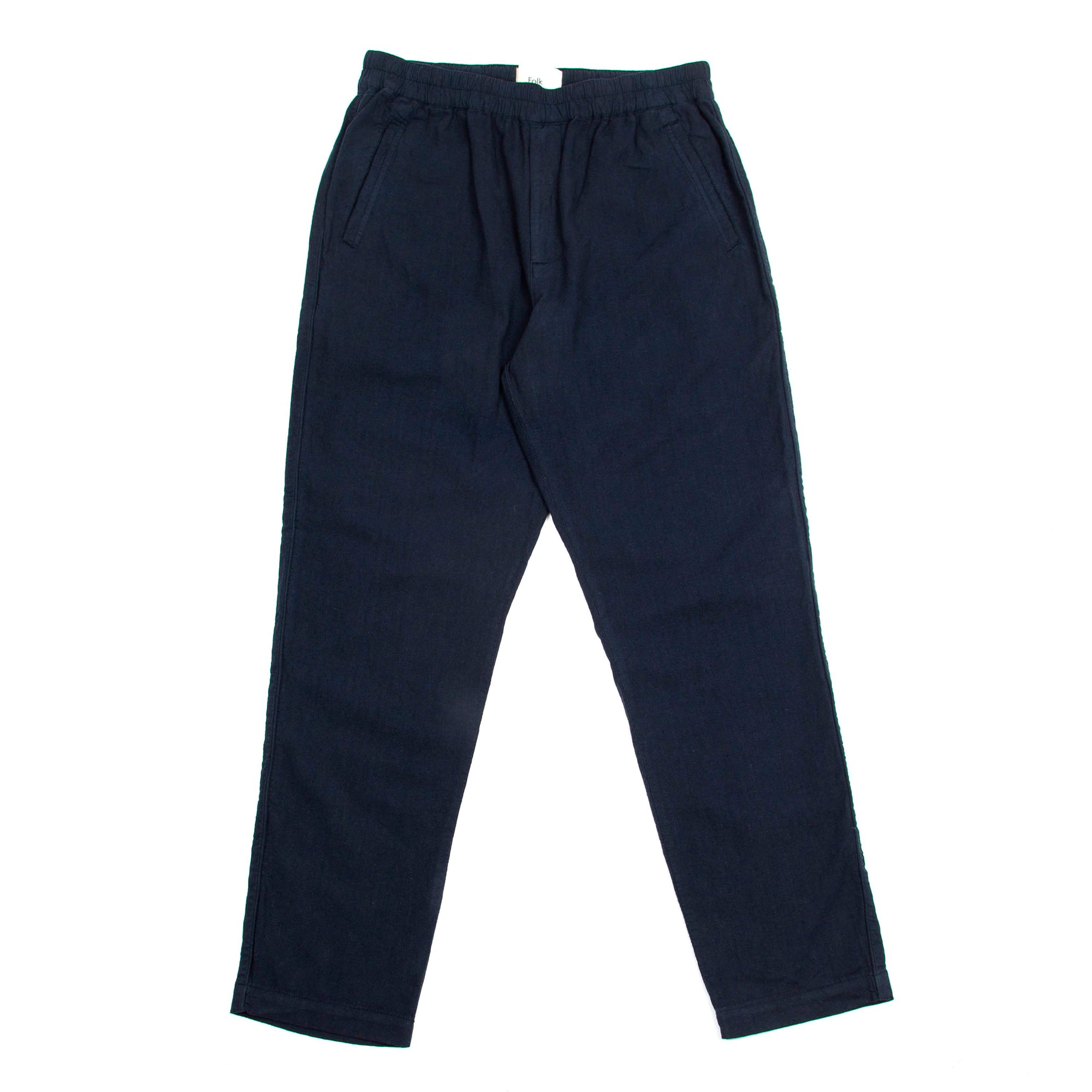 Folk Cotton Linen Trousers: Navy - The Union Project