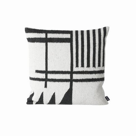 Cushions + Blankets Kelim Cushion: Black Lines - The Union Project