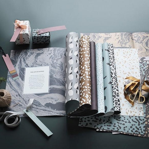 Cards + Gift Wrap Gift Wrapping Book (11 Sheets) - The Union Project
