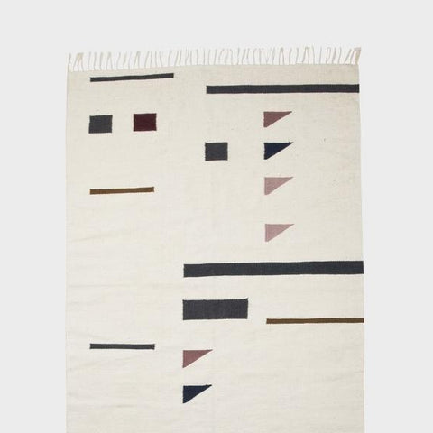 Ferm Living Kelim Rug Large: Triangles