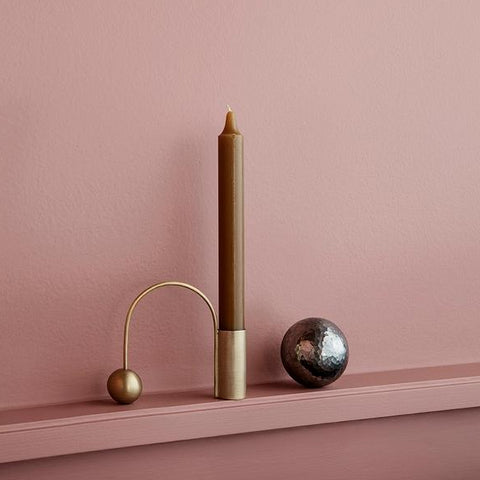 Home Fragrance + Candle Holders Balance Candle Holder: Brass - The Union Project