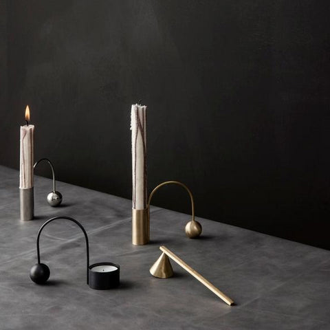 Home Fragrance + Candle Holders Balance Candle Holder: Chrome - The Union Project