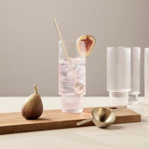 Glassware Ripple Long Drink Glasses (set of 4) - The Union Project