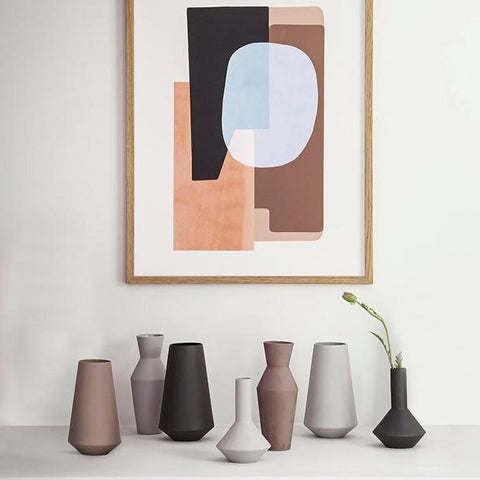 Plant Pots & Vases Sculpt Vase Well: Grey - The Union Project