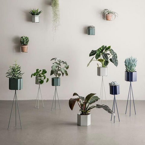Ferm Living Plant Stand High: Dusty Green