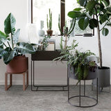 Ferm Living Plant Box Round: Taupe