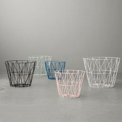 Wire Basket Small: Light Grey