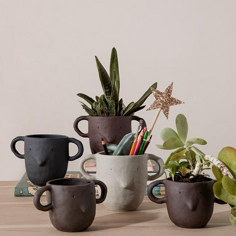 Ferm Living Mus Plant Pot Large: Sand