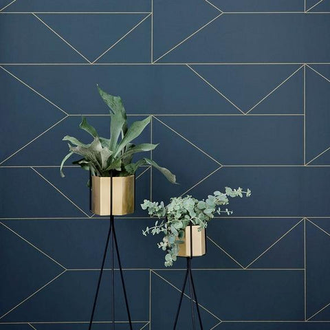 Plant Pots & Vases Hexagon Pot Large: Brass - The Union Project